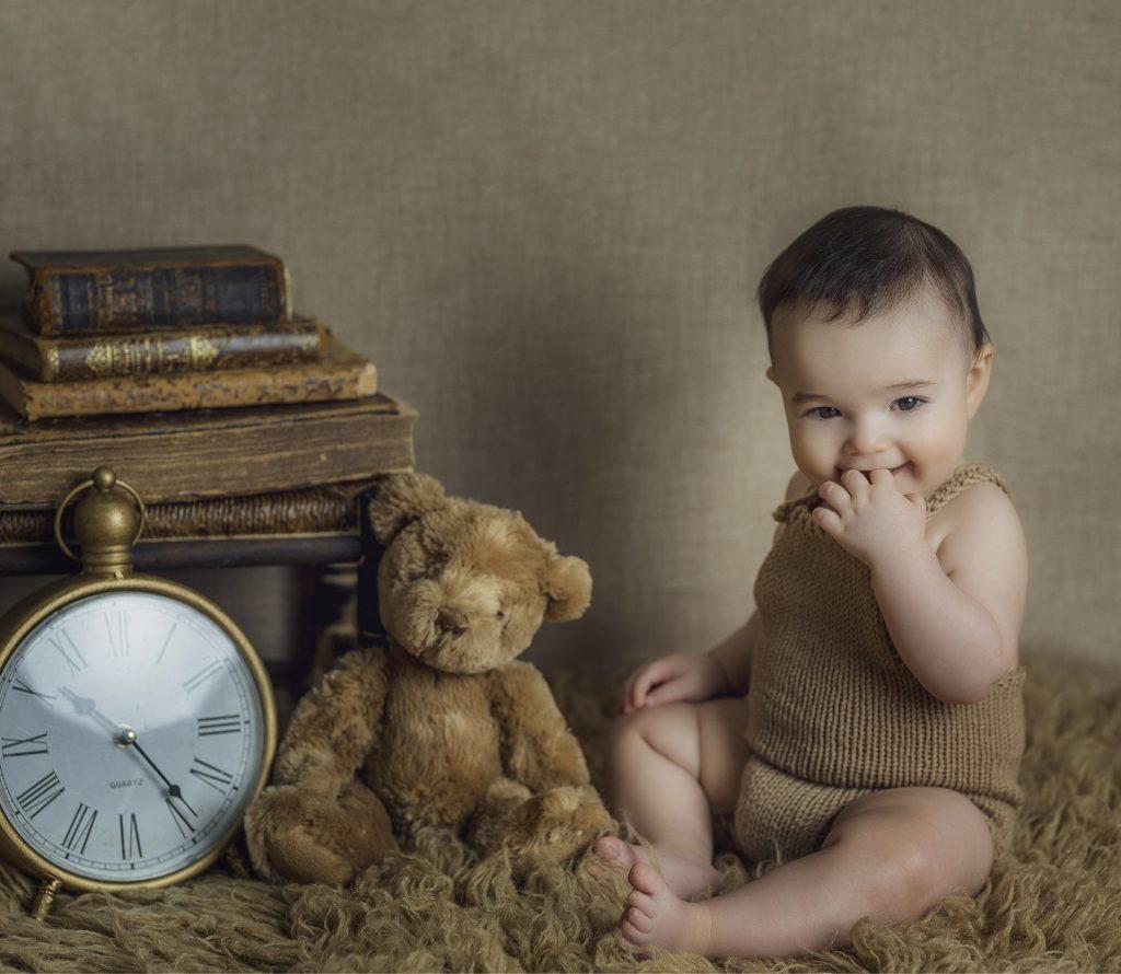 sesión bebé en estudio